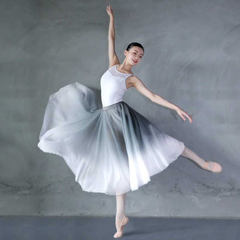 New Arrivals Ballet Skirt Women Adults Lyrical Skirt Ballet Long Chiffon Wrap Skirts Ballet Dance Costumes