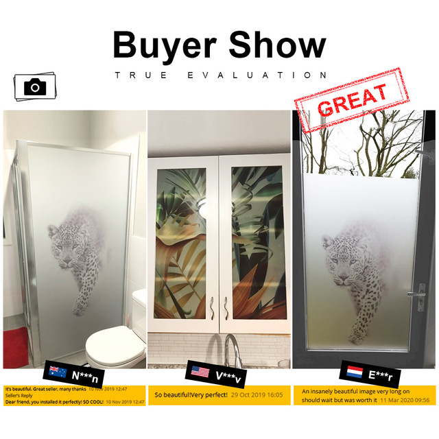 Decorative Shower Door Sticker