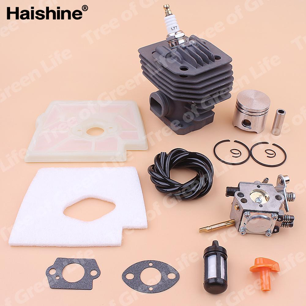 Tools : 35mm Cylinder Piston Carburetor Kit For Stihl FS160 FS 160 Air Fuel Filter Line Spark Plug Gasket Trimmer