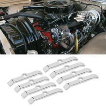 8 шт хромированная крышка клапанной камеры прижимной вкладки решётками подходит для Chevy 283 305 327 350 Серебряный автомобильные аксессуары