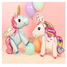 Party-Balloons Decorations Unicorn Animal Happy-Birthday Toy Baby Shower Gifts 3D Girl