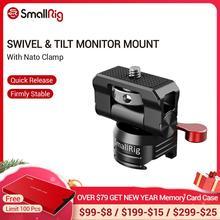 SmallRig soporte Universal para Monitor giratorio e inclinable con abrazadera Nato para SmallHD/Atomos/Blackmagic Monitor/pantalla/soporte EVF 2347
