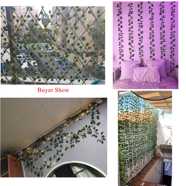 200CM Artificial Plants Creeper Green Leaf Ivy Vine For Home Wedding Decor Wholesale DIY Hanging Garland Artificial Flowers 6