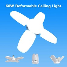 60W Folding LED E27 Garage Lamp Work Lights Home Lamp Household Practical Durable Energy Saving Lights