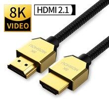8K 60Hz 4K 120Hz 48Gbps HDMI 2.1 cavi eARC Cabo HDMI 2.1 UHD Dynamic HDR per TV PS4 PS5
