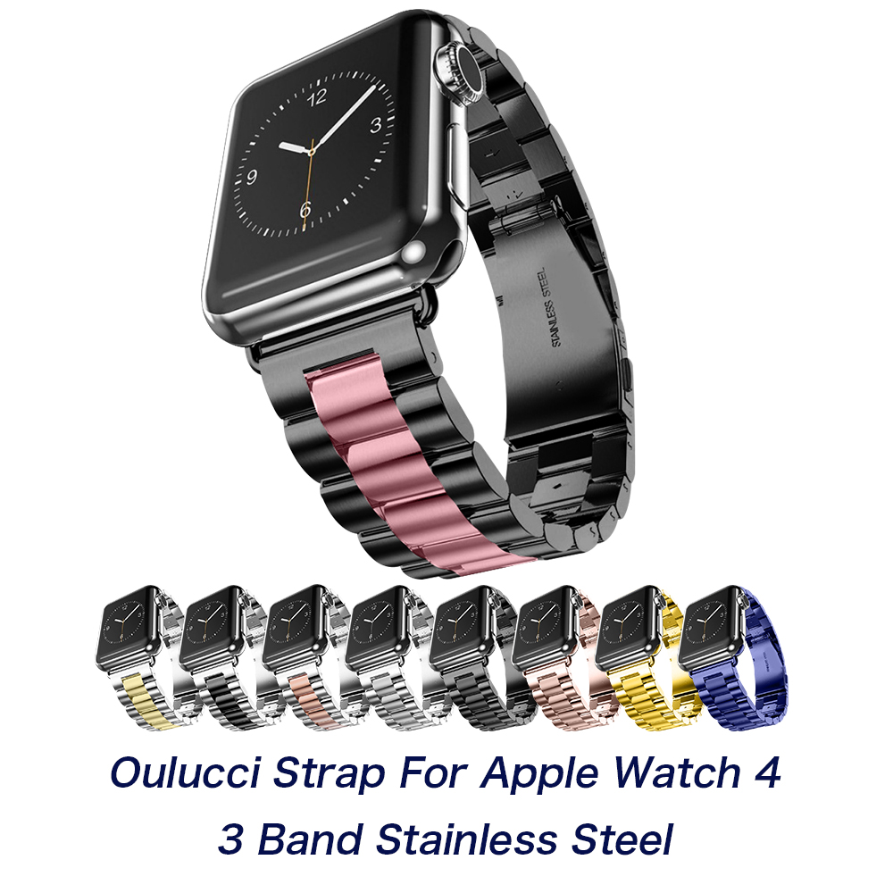 Luxury Stainless Steel Metal Band Strap For Apple Watch 4/3/2/1/5 42/40/38/44mm Bracelet Wrist Watchbands For IWatch Accessories