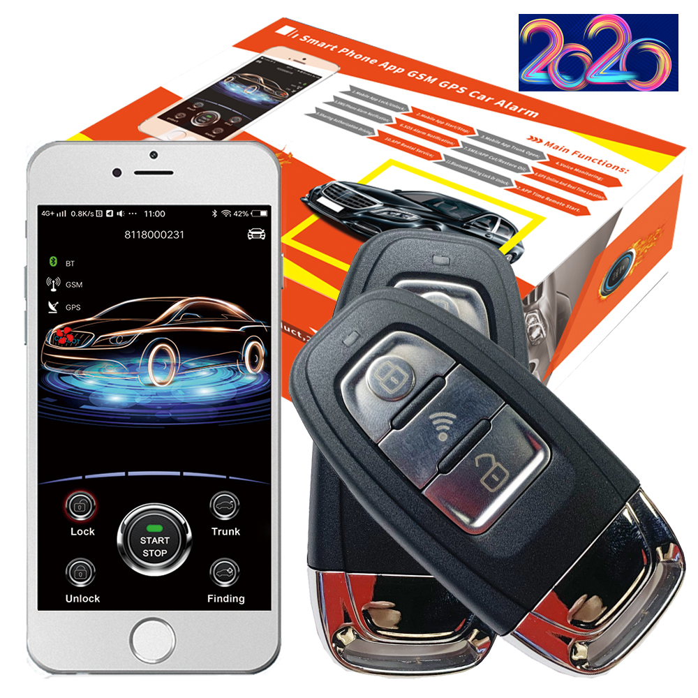 Cardot 2020 Gsm Car Alarm System Passwords Keyless Entry Ignition Start Stop Engine