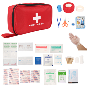 цена на Portable First Aid Kit For Medicines Outdoor Camping Driving Medical Bag Survival Handbag Emergency Kits Travel Set Drug Pack