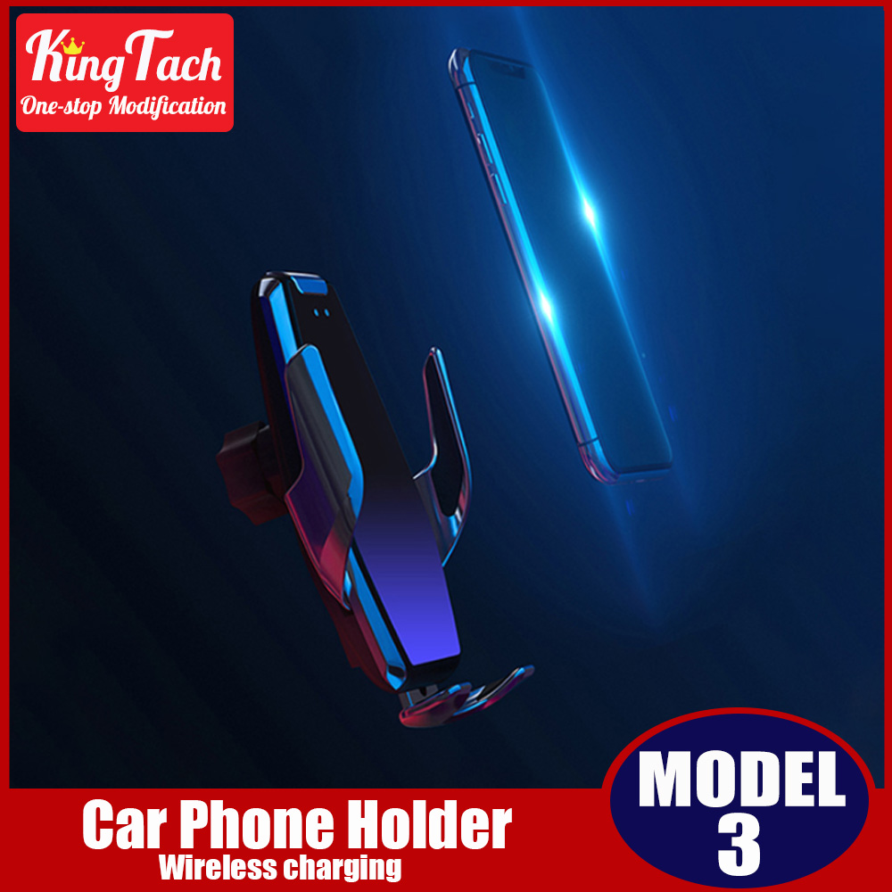 Wireless charging car phone holder For Tesla Model 3 smartphone mobile phone rugged magnetic dashboard air vent holder