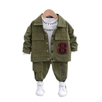 New Spring Autumn Children Cotton Clothes Baby Boys Girls T Shirts Jacket Pants 3Pcs/sets Infant Kids Fashion Toddler Tracksuits children girls clothes kids baseball infant sweatershirt toddler fashion brand jacket new spring autumn baby outwear boys coat