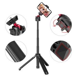 Image 4 - Ulanzi MT 16 wysuwany Mini statyw z zimnym butem do mikrofonu LED Light Selfie Stick kamera internetowa statyw do iPhone DSLR Sony Gopro Vlog