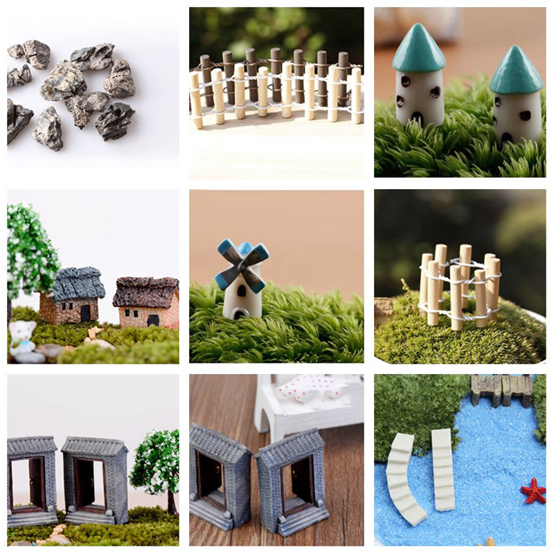 New Hot Sale Mini Craft Figurine Plant Pot Garden Ornament Miniature Fairy Garden Decor DIY