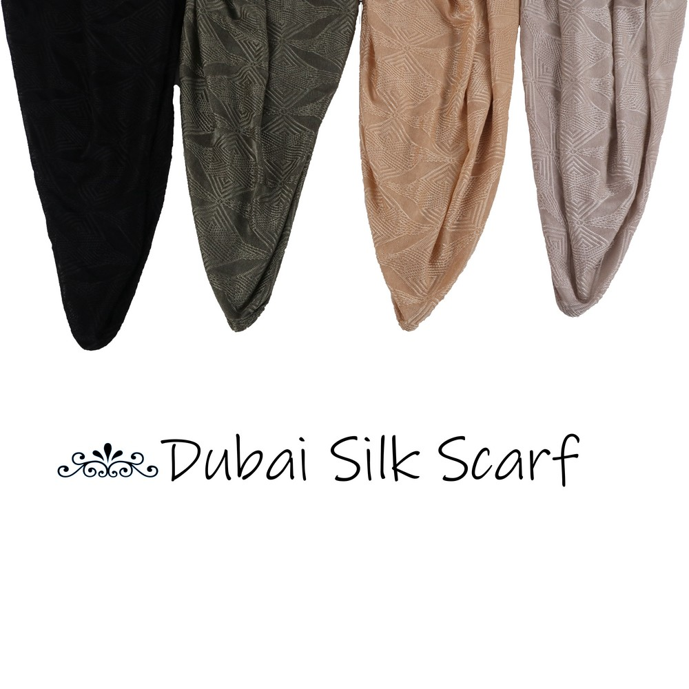 Lxdbs Dubai Silk Scarf  Stretchy Jersey Hijab Scarves Plain Shawl For Netherlands Holland Muslim Women