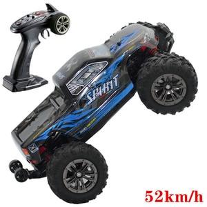 Image 1 - Бесщеточный автомобильный двигатель RC Drift, бесщеточный ESC 2,4G RC автомобиль 4WD 52 км/ч, скоростная Багги монстр грузовик, Антивибрационная игрушка для дрифта