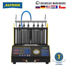 AUTOOL CT200 Gasonline 노즐 클리너 연료 인젝터 자동차 오토바이 자동 초음파 인젝터 청소 테스터 기계 PK CNC602A