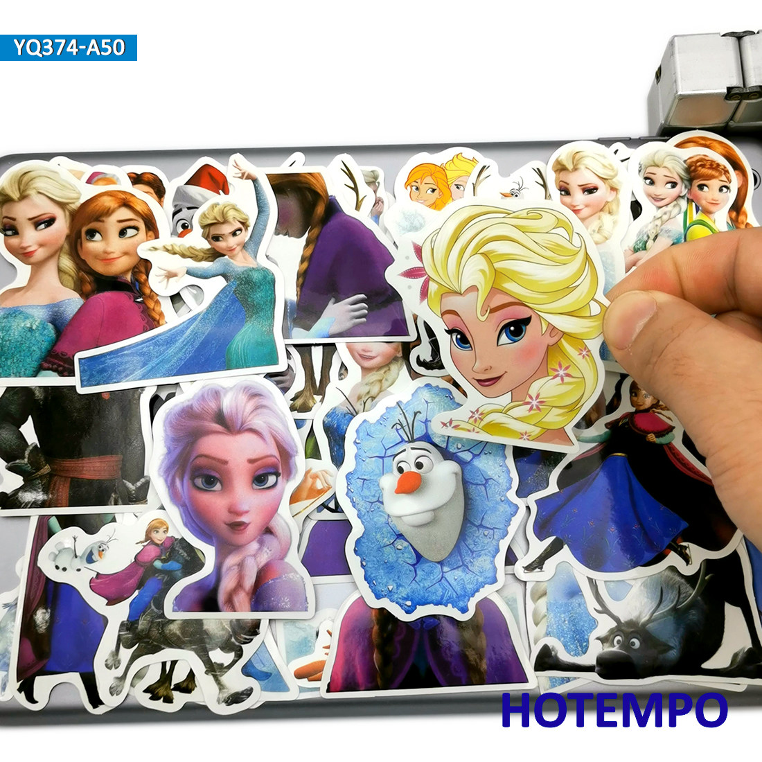 50pcs Anime Movie Cute Princess Elsa Anna Stickers Toys For Kids Girl Scrapbook Stationery Mobile Phone Laptop Luggage Stickers