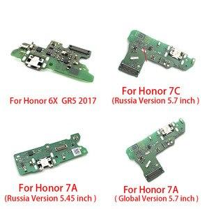 Image 2 - Port ładowania USB złącze dokujące płyta Flex Cable z mikrofonem Mic dla Huawei Honor 10 7X 7S 6X GR5 2017 7A Pro globalna rosja