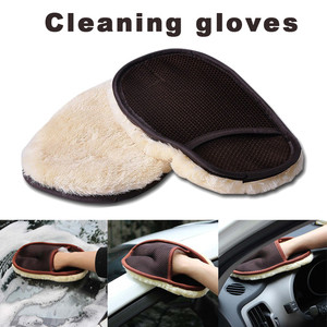 Car Wash Gloves Brush Care Mitt Lined Household Gloves Furniture Glass Dust Household Cleaning Sponge Cloth Clean Tool TXTB1