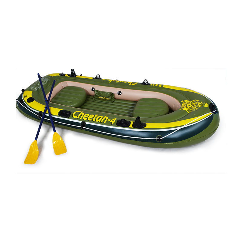Manufacturers Direct Selling Rubber Rowing PVC Gap Former Four people Thick Inflatable Fishing Boat Inflatable Boat Customizable|Fishing Tackle Boxes| |  - title=