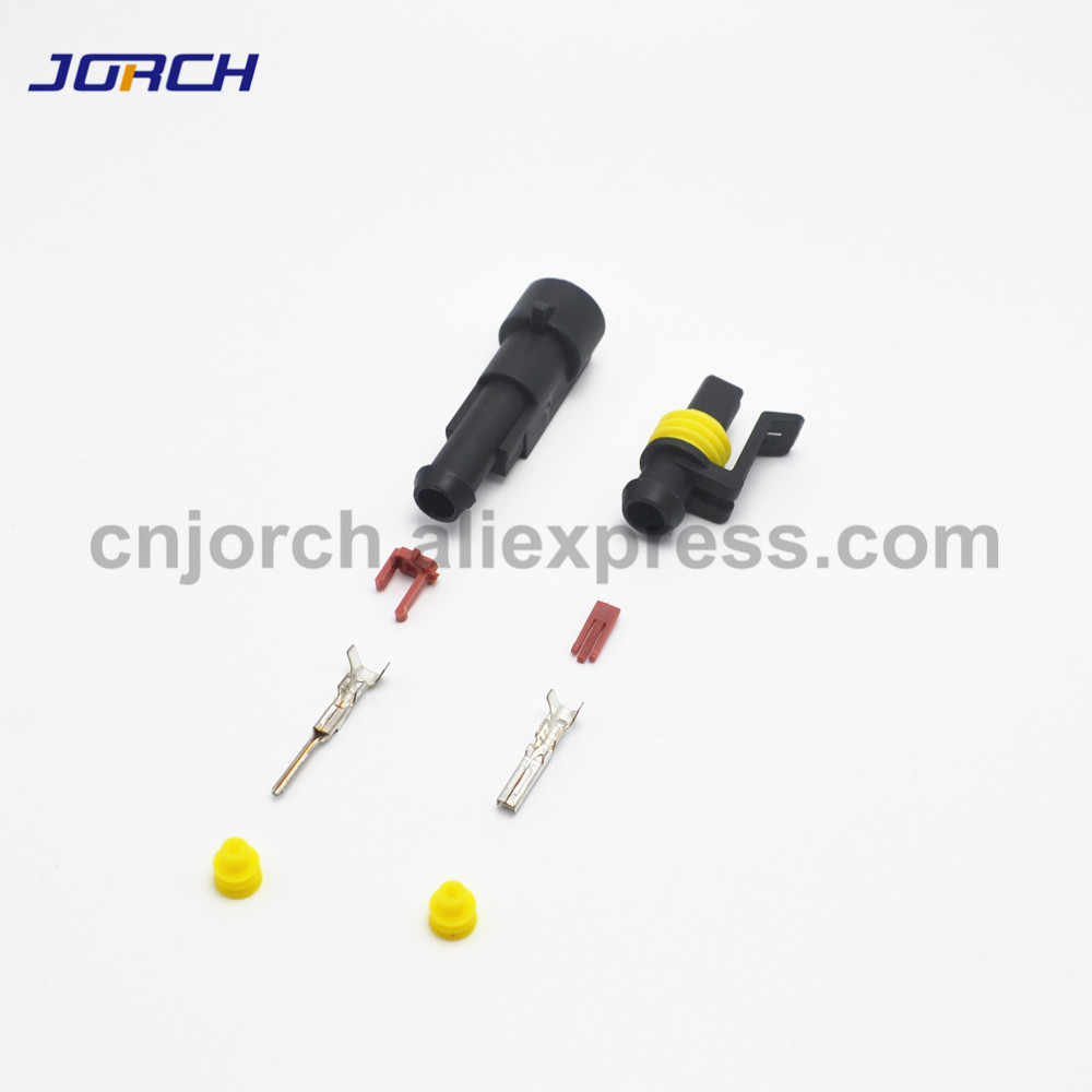 1 Set 1/2/3/4/5/6 Pin Cara AMP Tyco Super Disegel Otomotif Kawat Konektor listrik Plug Terminal untuk Mobil