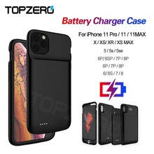 Battery Case For iPhone 5 5S SE 6 6S 7 8 Plus Powerbank Charging Case For iPhone X XS XR XS MAX 11 Pro MAX 12 MINI 12 Pro Max