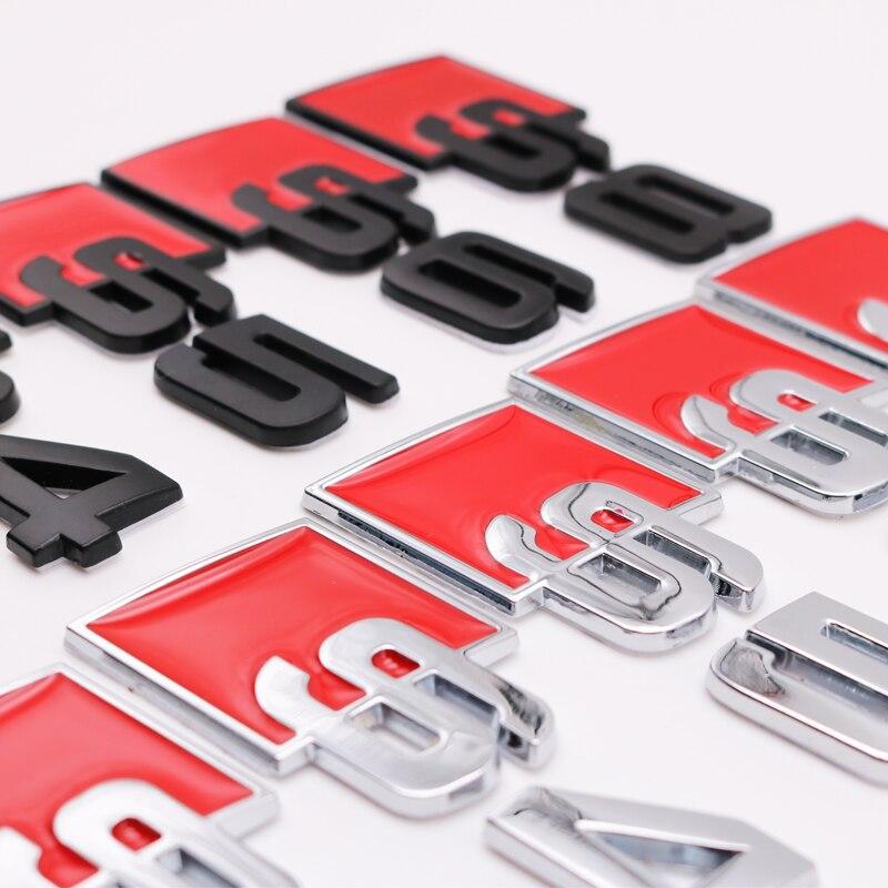 3D металлический автомобильный Стайлинг украшения Логотип Знак Стикеры для Audi A3 A4L A5 S3 S4 S6 S5 S8 RS3 RS5 Q7 Q3 SQ5 багажник аксессуары