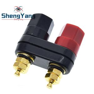 Plug-Jack Amplifier Banana-Speaker Black Connector Terminals Binding-Post Couple Top-Selling