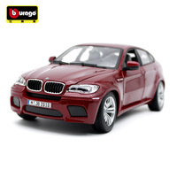 Burago 1:18 Scale Simulation Metal Car Model Toy For BMW X6M Diecast Car Model Decoration with Original Box For man Gift