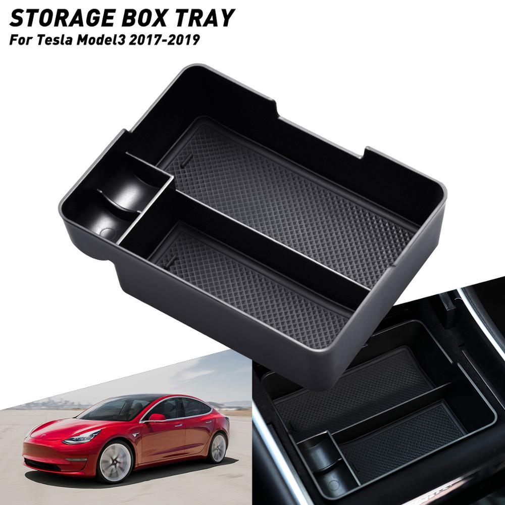 Accessories For Tesla Model 3 2017 2018 2019 Model3 2019 Car Central Armrest Storage Box Auto Container Glove Organizer Case