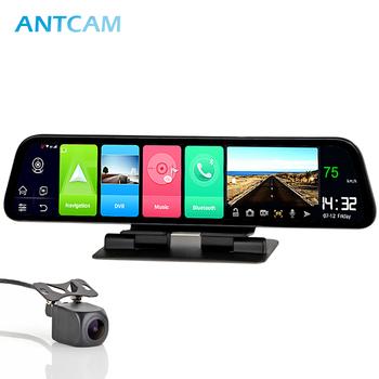 Antcam 12 #8222 kamera na deskę rozdzielczą samochodu IPS 4G GPS Android 8 1 nawigacja ADAS 2G RAM 32G ROM FHD 1080P podwójny obiektyw samochodowy rejestrator wideo DVR tanie i dobre opinie Spreadtrum SL8541E Przenośny rejestrator Klasa 10 Need use power cable 170 ° Samochód dvr 1920x1080 Zewnętrzny G-sensor