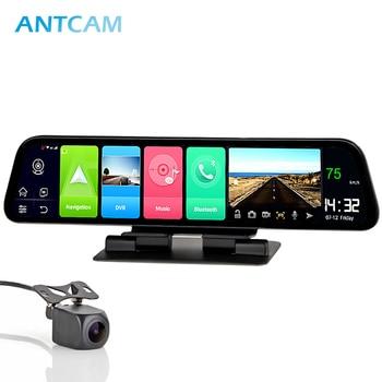 "Antcam 12"" IPS 4G Car Dashboard Camera GPS Android 8.1 Navigation ADAS 2G RAM 32G ROM FHD 1080P Dual Lens Car Video Recorder DVR"
