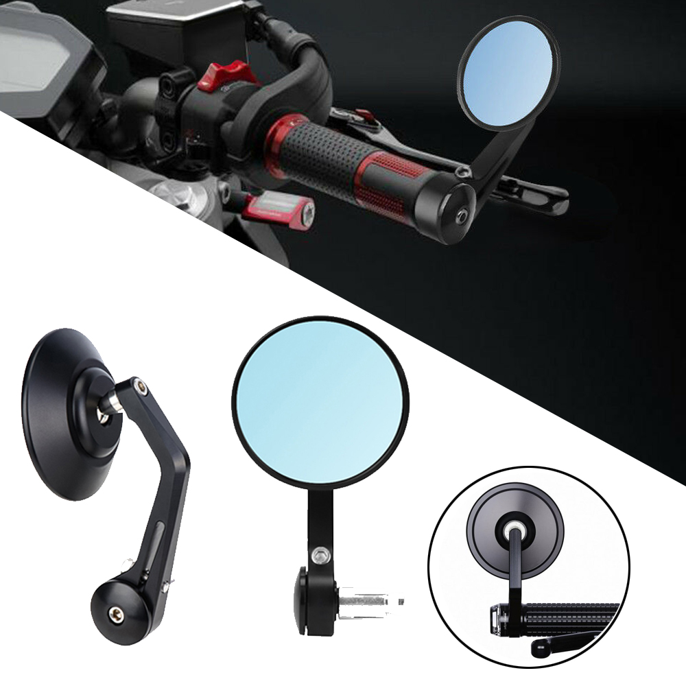 Motorcycle For Yamaha MT 07 MT 09 For BMW s1000r Mirrors 13 18mm for Crusier Rear Side CNC HandleBar End Rear Mirrors