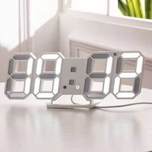 Digital Clock Luminous Time Three-Dimensional Clock Led Electronic Alarm Clocks Three-Dimensional Wall Clocks Decorative Lamp(China)