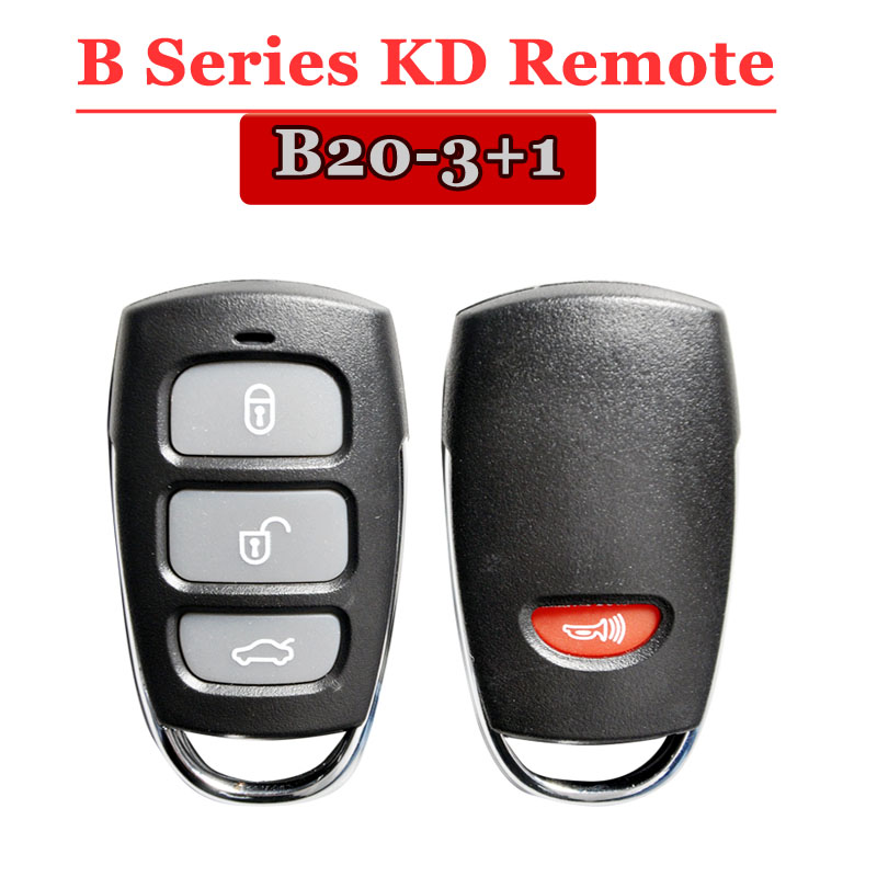 Free Shipping (1 Piece)KD900 Remote Key B20 3+1 Button B Series Remote Contorl For Kd900/urg200/kd900+ Machine Remote Master