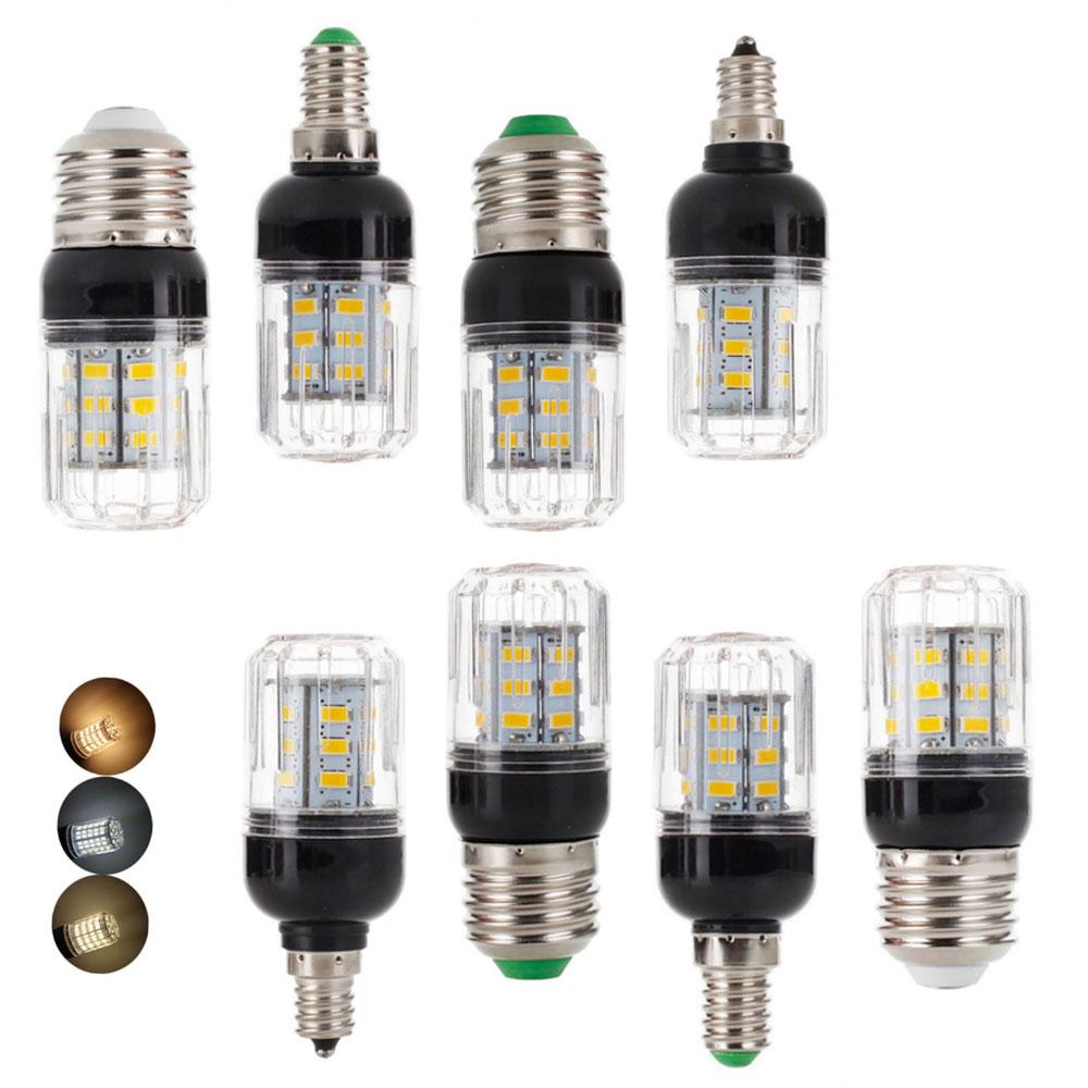 E27 E14 E12 E26 SMD 5730 27LEDs 7W LED Corn Bulb Lamp Christmas Chandelier Candle Light Home Lighting AC 110V 220V DC 12V 24V