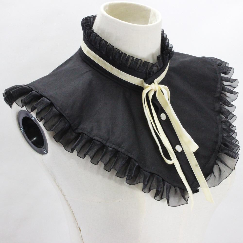 Black Cotton Decoration Dickie Korea Fake Collar Detachable New Free Shipping Wholesale Shirt Women