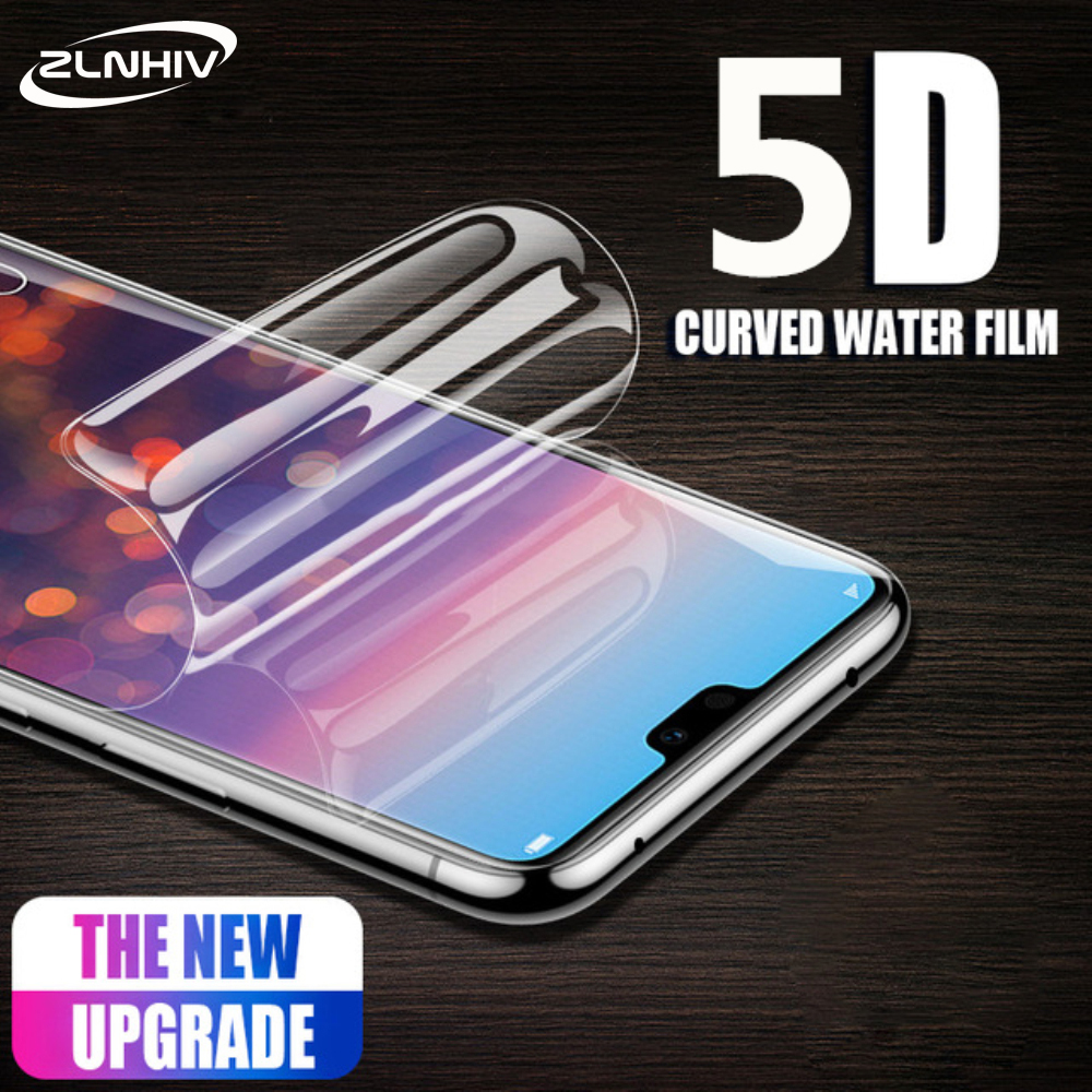 ZLNHIV 5D For Huawei P Smart Plus 2018 2019 Hydrogel Film P Smart Z Phone Screen Protector Protective Film Smartphone Not Glass