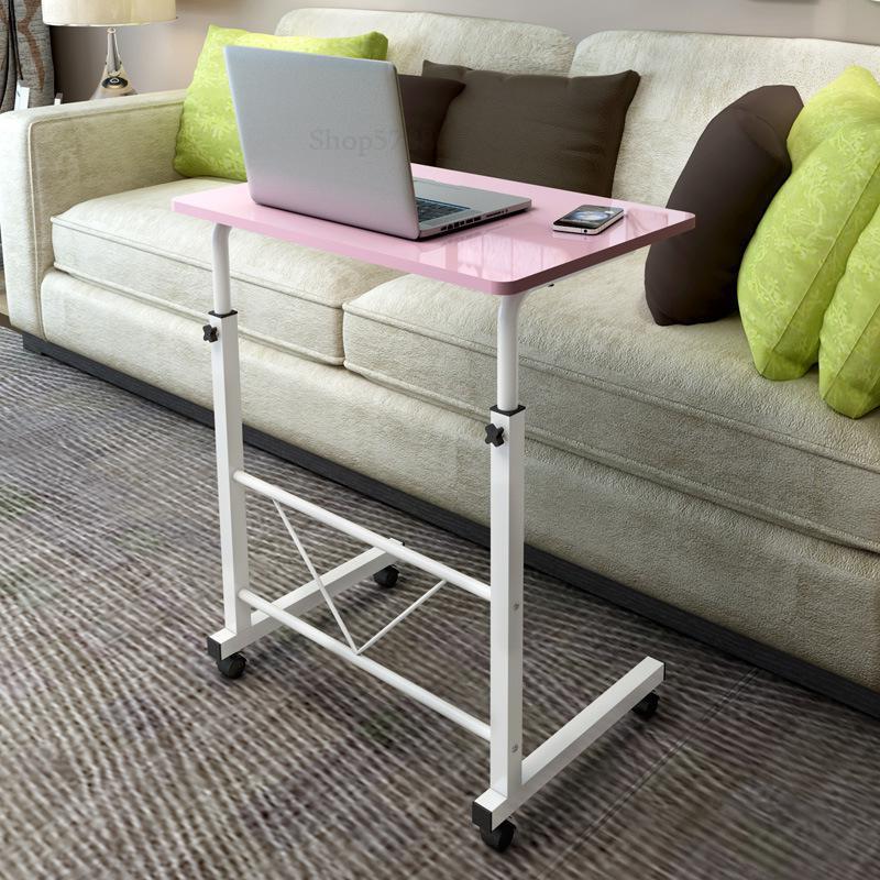 Стол компьютерный складной, прикроватный столик для учебы, с подъемом для дома