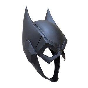 Image 4 - Top Quality Superhero The Dark Knight Batman Cosplay Masks Bruce Wayne Half Face PVC Helmet Mask Party Masquerade Carnival Props