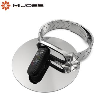Metal Bracelet Mi Band 5 Strap NFC Global Version Correa Original for Xiaomi Mi Band 4 Smart Watch Mi Band 3 Stainless Wrist