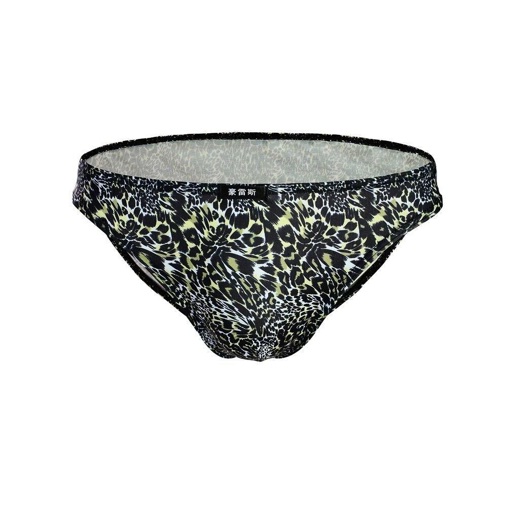 Underwear Jockstrap Undies Briefs Printed Leopard Low-Rise Sexy Men's Cueca Soft Hot-Hips