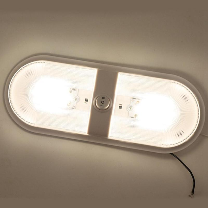 12V 48 LED Dome Light Ceiling Lamp with Switch Caravan Accessories for <font><b>RV</b></font> Marine Boat Yacht Camping Car <font><b>Motorhome</b></font> Trailer image