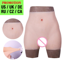 Silicone Realistic Vagina Pants Shemale Crossdresser Pussy Pants Transgender Artificial Sex Fake  Underwear Enhancer Hip