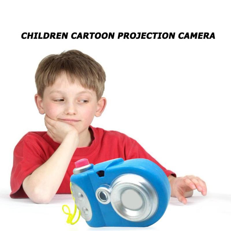 Kids Mini Cartoon Plastic Simulation 8 Different Light Patterns Camera Children Educational Projector Toy Random Color