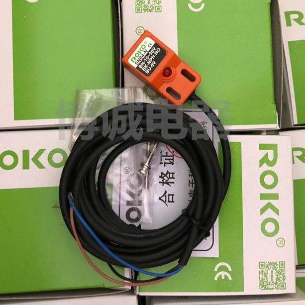 Sensor de acercamiento ROKO SN04-N, 4mm, NPN, 3 cables, interruptor de proximidad inductivo