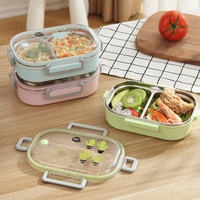 Japanese Portable Lunch Box Kitchen Leak-proof Food Container For Kids School Stainless Steel Bento Box Picnic Meal Box