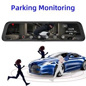 """Image 5 - Bluavido 12 """"Ips Auto Spiegel Dvr Gps 2G Ram 4G Lte Android 8.1 Camera Video Recorder Navigatie hd 1080P Achteruitkijkspiegel Dash Cam"""
