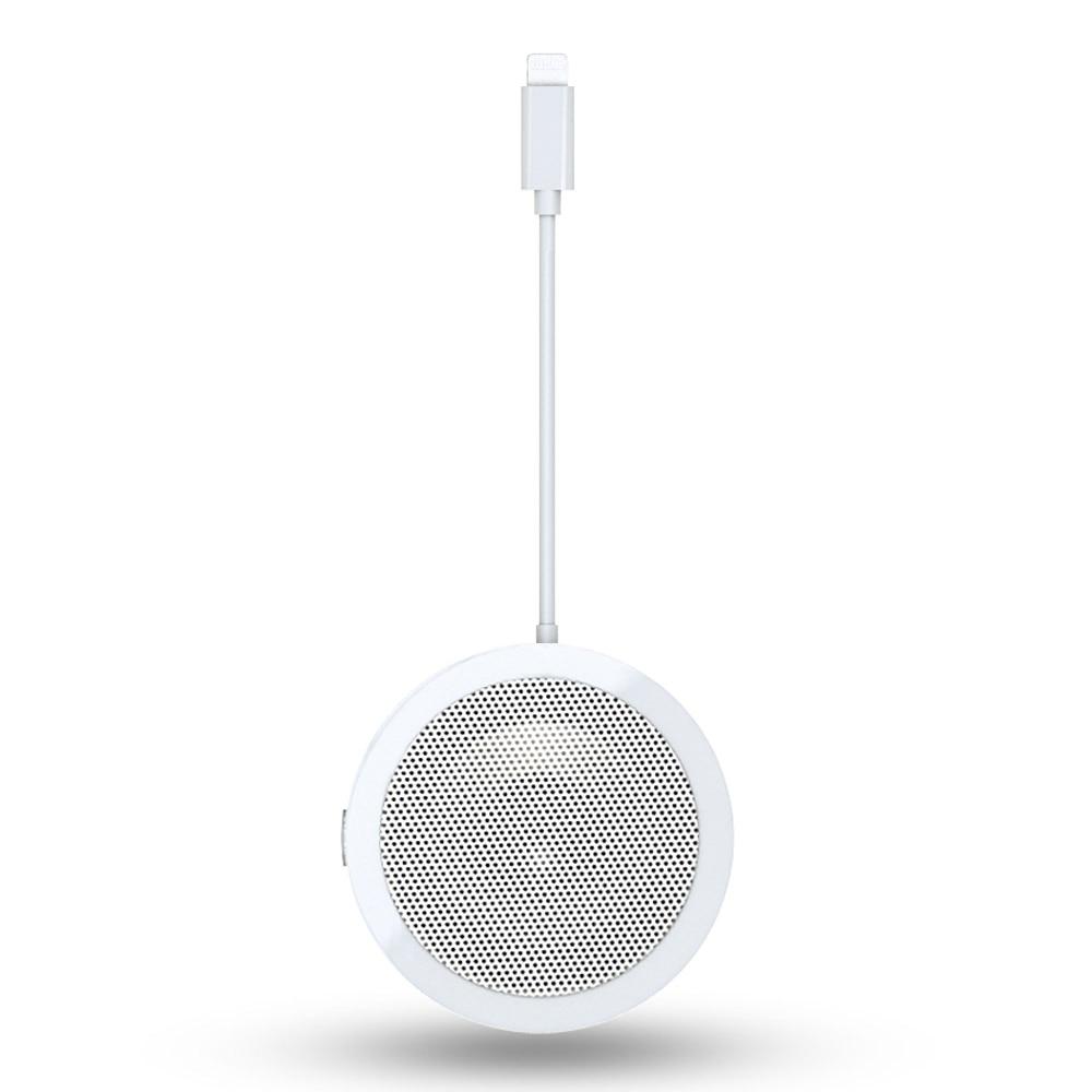 Voor Bliksem Aangedreven Conferentie Luidspreker met Microfoon Aux Jack Licht ning naar audio adapter voor iPhone X/XR /XS/8/iPad Pro/iPod