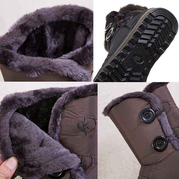 שלג מגפי נשים מגפי חורף מגפי גבירותיי חם פרווה חורף נעלי נשים נעלי נשים נעליים בתוספת כותנה נשים קרסול מגפיים