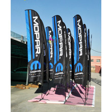 Cusotm Print LOGO Feather Beach Flag Teardrop Sports Event Display Outdoor Wind Advertising Flag Banner, Flag pole Display Stand